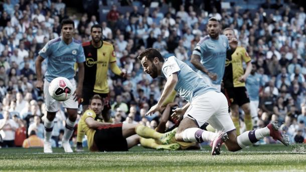Bernardo Silva marca el primero de su cuenta particular./ Foto: Premier League