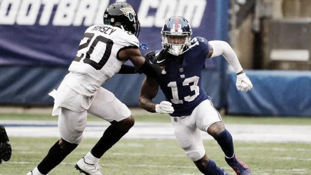 Se pudo vivir uno de los posibles mejores duelos de la liga: el mejor CB con el mejor WR | Foto: Giants.com