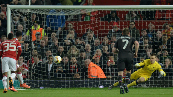 Martial gave United the lead from the penalty spot at Old Trafford | Photo: Getty Images