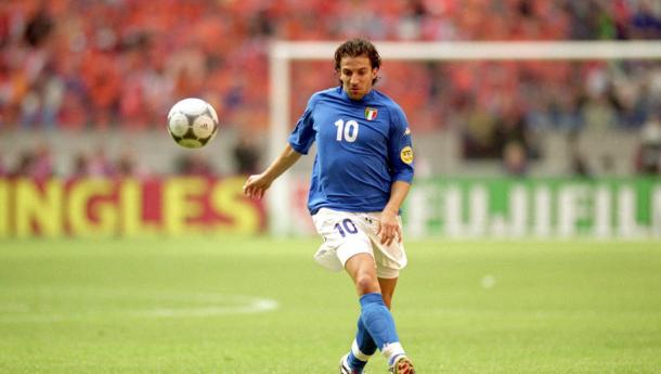 Del Piero ad Euro 2000. Fonte: getty