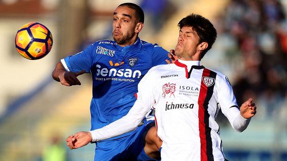 Bellusci e Melchiorri, ieri in azione al Castellani. Fonte foto: 90min.com