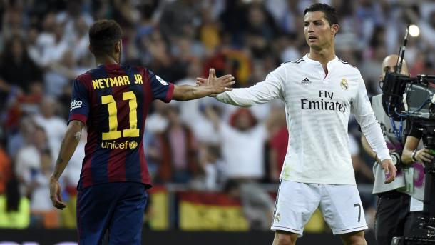 Neymar e Ronaldo. Protagonisti attesi. Fonte foto: getty Images.