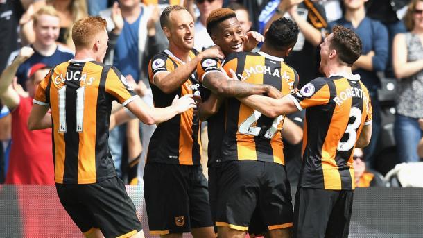 Una delle poche vittorie del Hull in stagione, nel match d'esordio con il Leicester. Fonte foto: Skysports.com