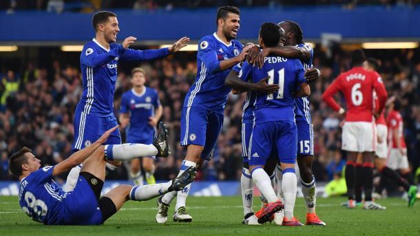 La gioia del Chelsea, dominatore all'andata. Fonte foto: skysports