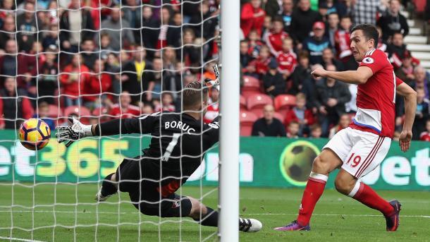 Downing realizza il raddoppio.   Fonte immagine: Sky Sports