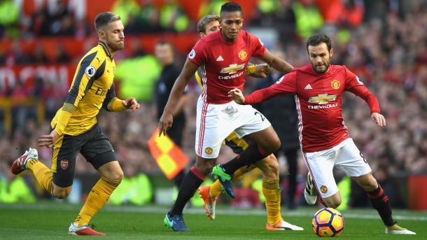 Su último partido como local recibió al Arsenal. Foto:Manchester United.