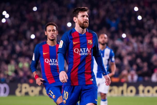 Messi non esulta dopo il gol del 2-1 del Barcellona sul Leganes (Fonte foto: Sky Sports)