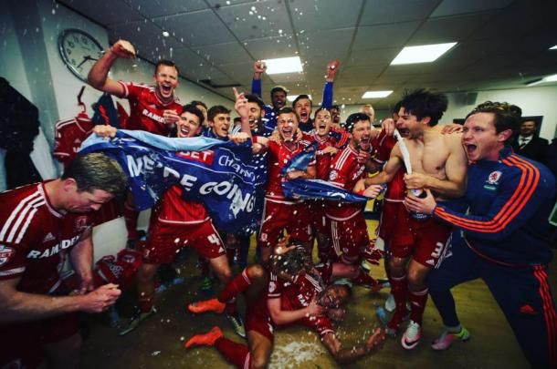 Will Middlesbrough be celebrating again at the end of the season? | Photo: MFC