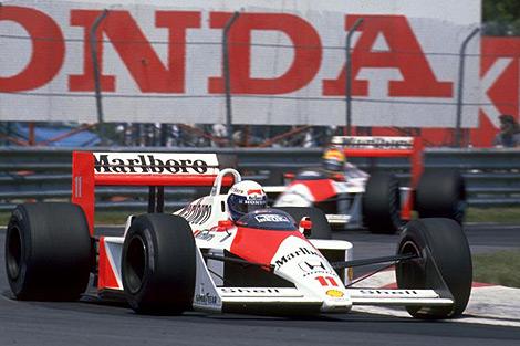 Golden Years: Alain Prost and Ayrton Senna in the McLaren Honda MP4/4, 1988.