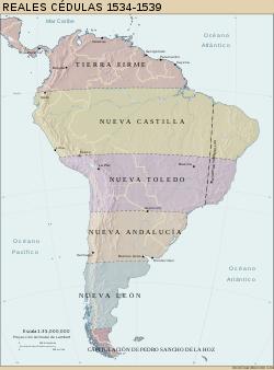 División de los territorios del Imperio Inca. Fuente: Wikicomons