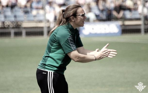 María Pry, técnica del conjunto verdiblanco | Foto del Real Betis Balompié