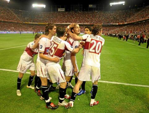 Sevilla FC 1-0 Schalke 04, gol de A. Puerta | Foto: Sevilla FC