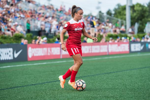 Mallory Pugh joined Washington during the 2017 season and has started 2018 strong. | Photo: Washingtonspirit.com from isiphotos