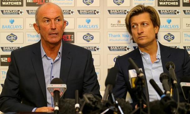 Pulis and Parish during the former's unveiling as Crystal Palace boss | Photo: Getty images/Clive Rose