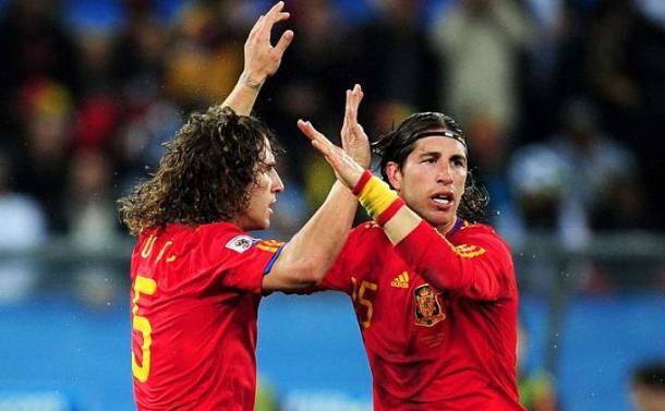 Sergio Ramos y Carles Puyol una dupla muy defensiva (barcelona.eldesmarque.com)