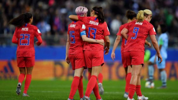 Rapinoe, Morgan, Press y Horan / Foto: FIFA