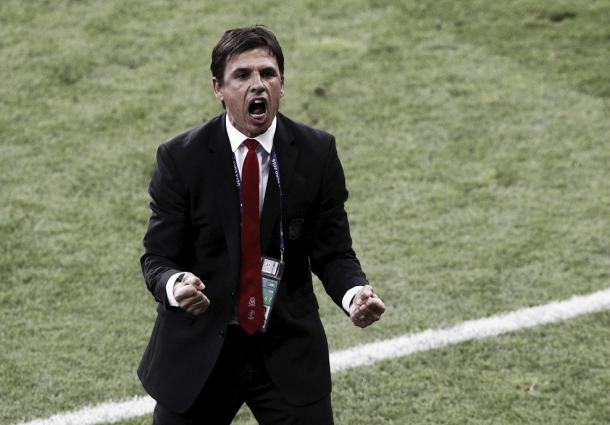Chris Coleman's delighted for his team's first-half performance l Photo: uefa.com