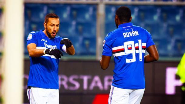 Quagliarella y Zapata, dos figuras claves en la Sampdoria. / Foto: imagephotoagency.it
