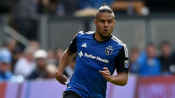 The Quakes will be hoping that Quincy Amarikwa is able play on Saturday against Dallas. Photo provided by Getty Images.