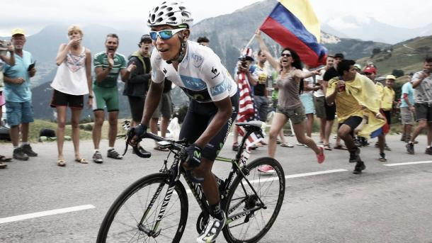 The widely loved Quintana could use the mountainous route to aid in his push for yellow | Credit: Getty