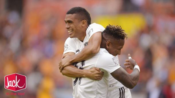 Romell Quioto cerró la goleada // Imagen: Houston Dynamo