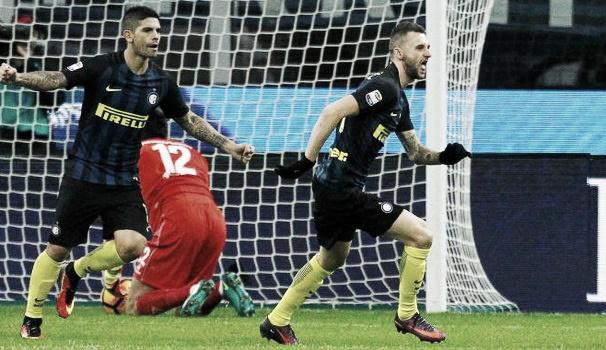 Brozovic sblocca la partita | Ilquotidiano.net