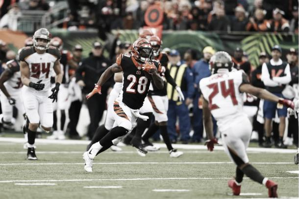 Joe Mixon sigue brillando en el backfield de Cincinnati | Foto: Bengals.com