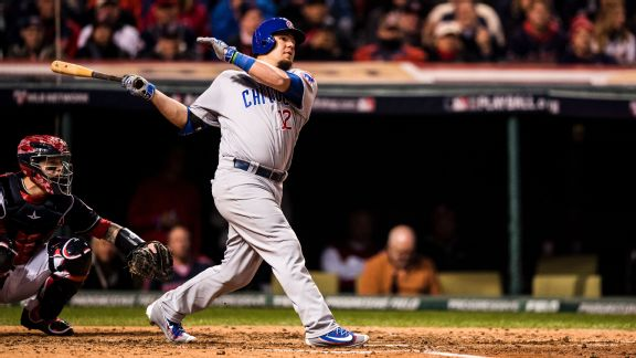 Kyle Schwarber hitting in the 2016 World Series-ESPN
