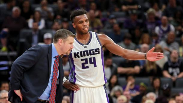 Buddy Hield, one of the prospects the Kings traded for when they lost Demarcus Cousins. Photo: Sergio Estrada USA-TODAY Sports