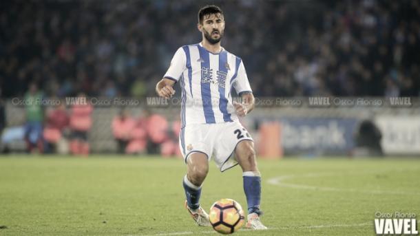 Raúl Navas con la Real Sociedad | Foto: Óscar Alonso - VAVEL