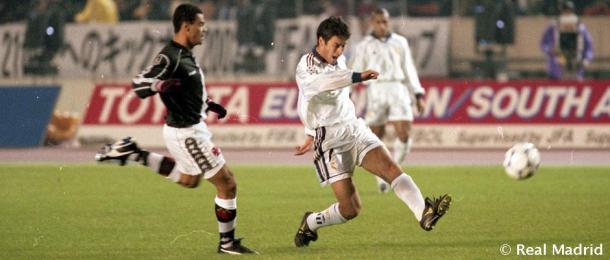 Raúl durante un partido frente al Vasco Da Gama | Realmadrid.com