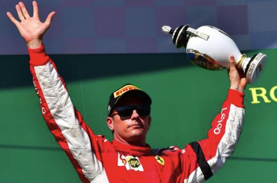 Kimi Raikkönnen en el podio del Gran Premio de Hungria. (Getty Images)