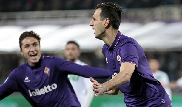 Fiorentina Sassuolo 2-1, esultanza Kalinic | raisport