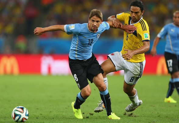 Ramírez represents Uruguay at the 2014 World Cup | Photo: Jamie Squire, Getty