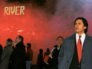 Ramón en la vuelta frente a América de Cali, por la final de la Copa Libertadores '96.