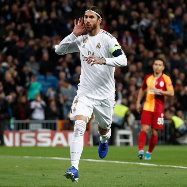Ramos celebra el 3-0 / Fuente: Real Madrid (Twitter)