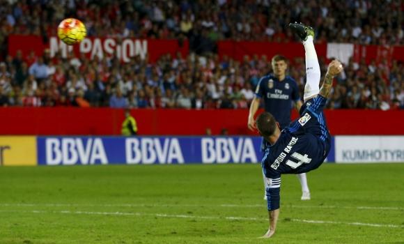 Gol de chiena de Ramos. Fuente: Real Madrid