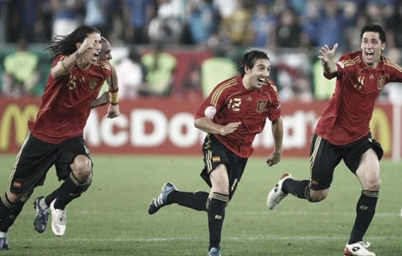 España rompía la maldición de los cuartos en la Euro 2008 | Foto: UEFA