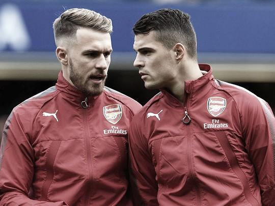 Aaron Ramsey y Granit Xhaka jugaron juntos en el Arsenal | Foto: Arsenal