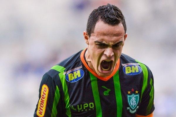 Victor Rangel marcou pelo América-MG. (Foto:@Mineirao)