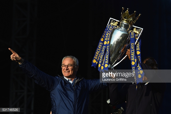 Ranieri leaves the King Power having lifted arguably the most miraculous title in football history | Photo: Getty/ Laurence Griffiths