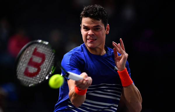 Raonic competing at the BNP Paribas Masters (Photo by Dan Mullan / Getty Images)