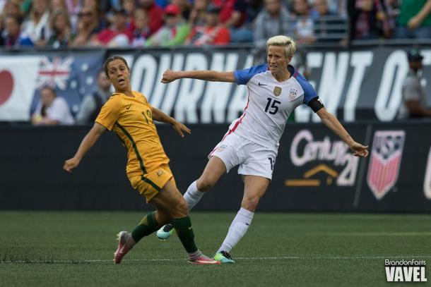 Megan Rapione is one of the most capped players on the USWNT roster with 127 caps | Source: Brandon Farris - VAVEL USA
