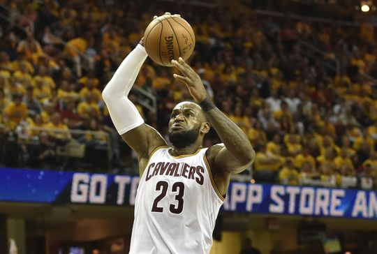 Cleveland Cavaliers forward LeBron James (23) attack the rim. Photo by: David Richard-USA TODAY Sports