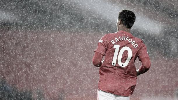 Incansable Rashford todo el partido./ Foto: Premier League