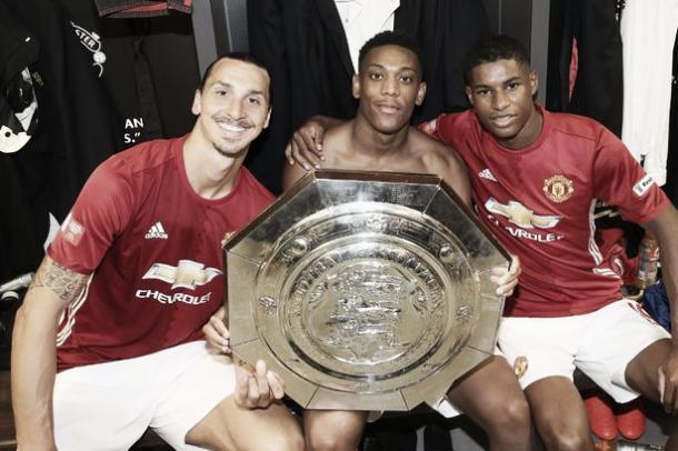 Ibrahimovic, Martial and Rashford are all in contention to start against Feyenoord | Photo: John Peters/ Manchester United