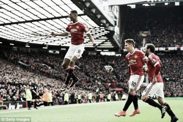 Rashford celebrates - Arsenal | Photo: Getty Images