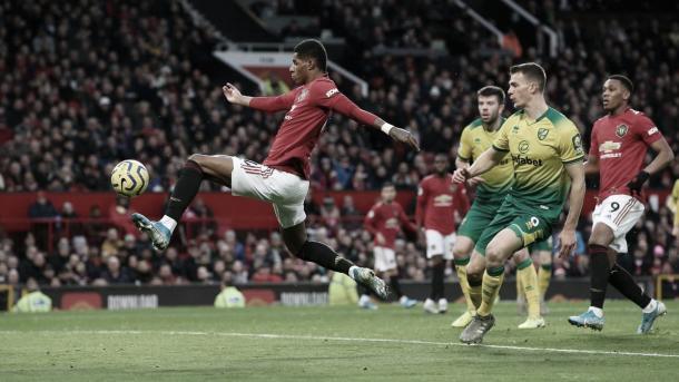 Marcus Rashford convirtió un doblete | Foto: Premier League