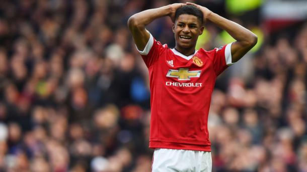 Marcus Rashford has been a continual starter since debuting against FC Midtjylland, notching nine starts in a row. | Source: SkySports