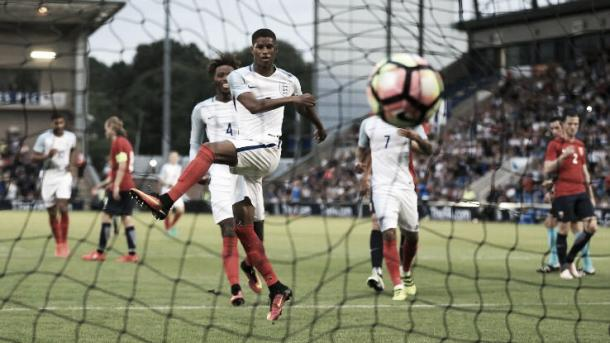 Rashford sealed his hattrick with a 71st minute penalty. | Photo: ESPN FC